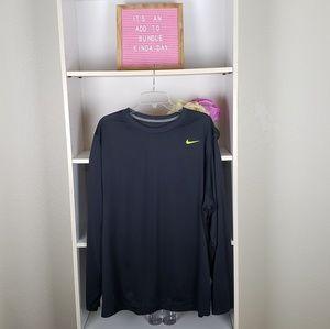 Nike Gray Dri-Fit Long Sleeve Top SZXXL